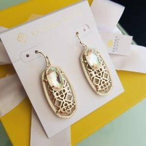 Kendra Scott Filgree Emmy Dichroic gold earrings
